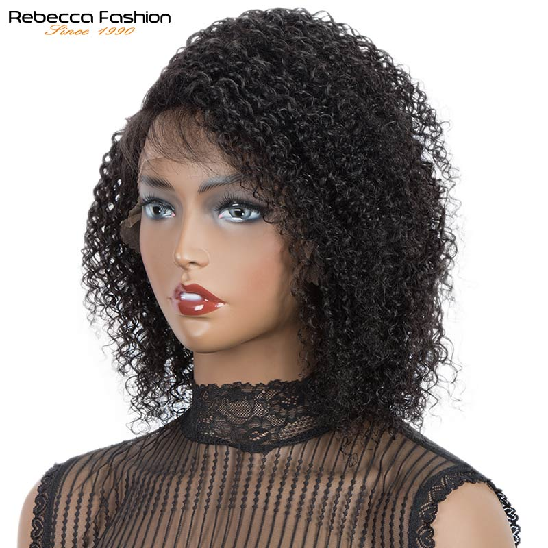 Human Hair Wigs Short Hair with Baby Hair Cheveux Naturels frange Humains Femme Lace Part Wig Brazilian Kinky Curly Human Wigs