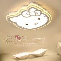 Modern LED ceiling Lights home lighting child bedroom lovely light bedroom lamps red or white ceiling lamp hello Kitty KT cat