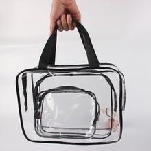 3 Packs Clear Cosmetics Bag Make-up Bags Organizers, Wobe PV