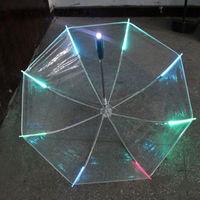 Multicolor Led Umbrella Cool Luminous Umbrella Flash Light Night Safety Protection|Umbrellas|   -
