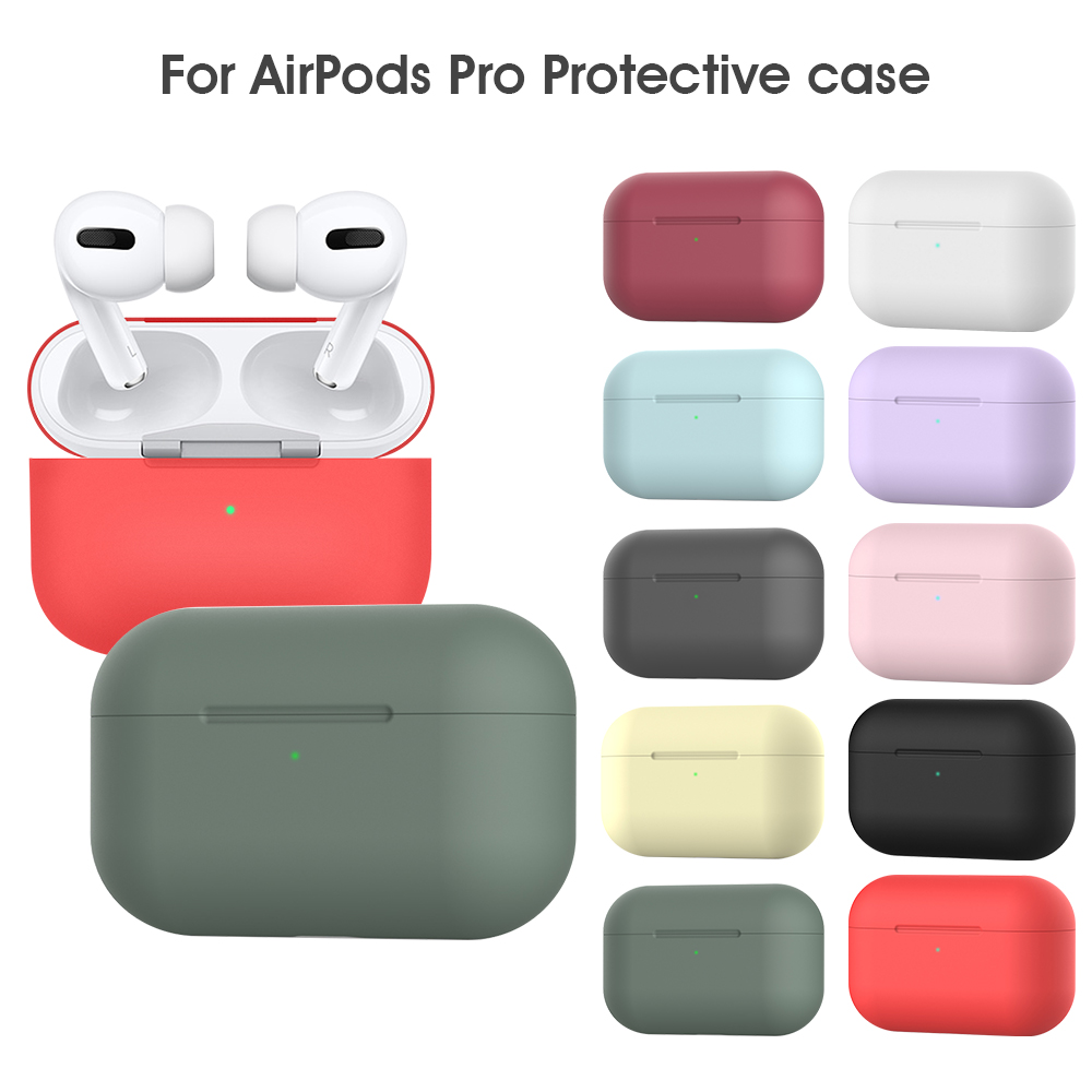 Soft Silicone Case Earphones For Apple AirPods Pro Cases Protective Shell Headphone Cover For AirPods Pro Shockproof Bag Funda