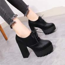 Women Black super high heel women thick with autumn winter 2019 new and bare boots