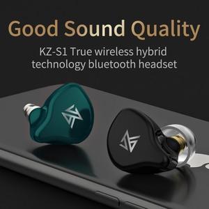 Image 2 - KZ S1D/S1 TWS اللاسلكية التحكم باللمس بلوتوث 5.0 سماعات ديناميكية/الهجين سماعات الأذن إلغاء الضوضاء سماعة أذن تستخدم عند ممارسة الرياضة