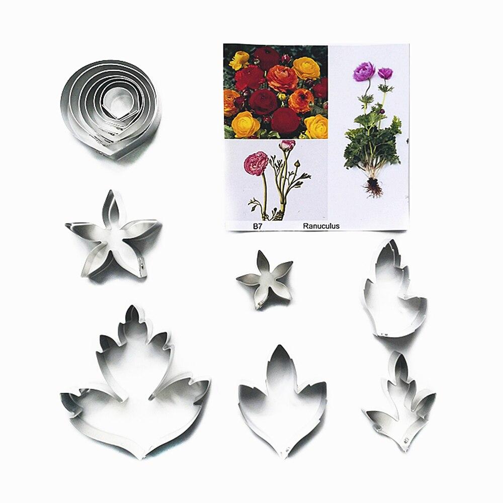 Holly Cutter /& Veiner  set of 4 Cake Decorating Sugar Flower Gum Paste Tools