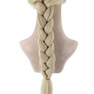 Image 5 - VICWIG קוספליי פאות 26 אינץ זהב קוקו סינטטי צמת שיער לנשים גריי פאה עמיד בחום עלה נטו