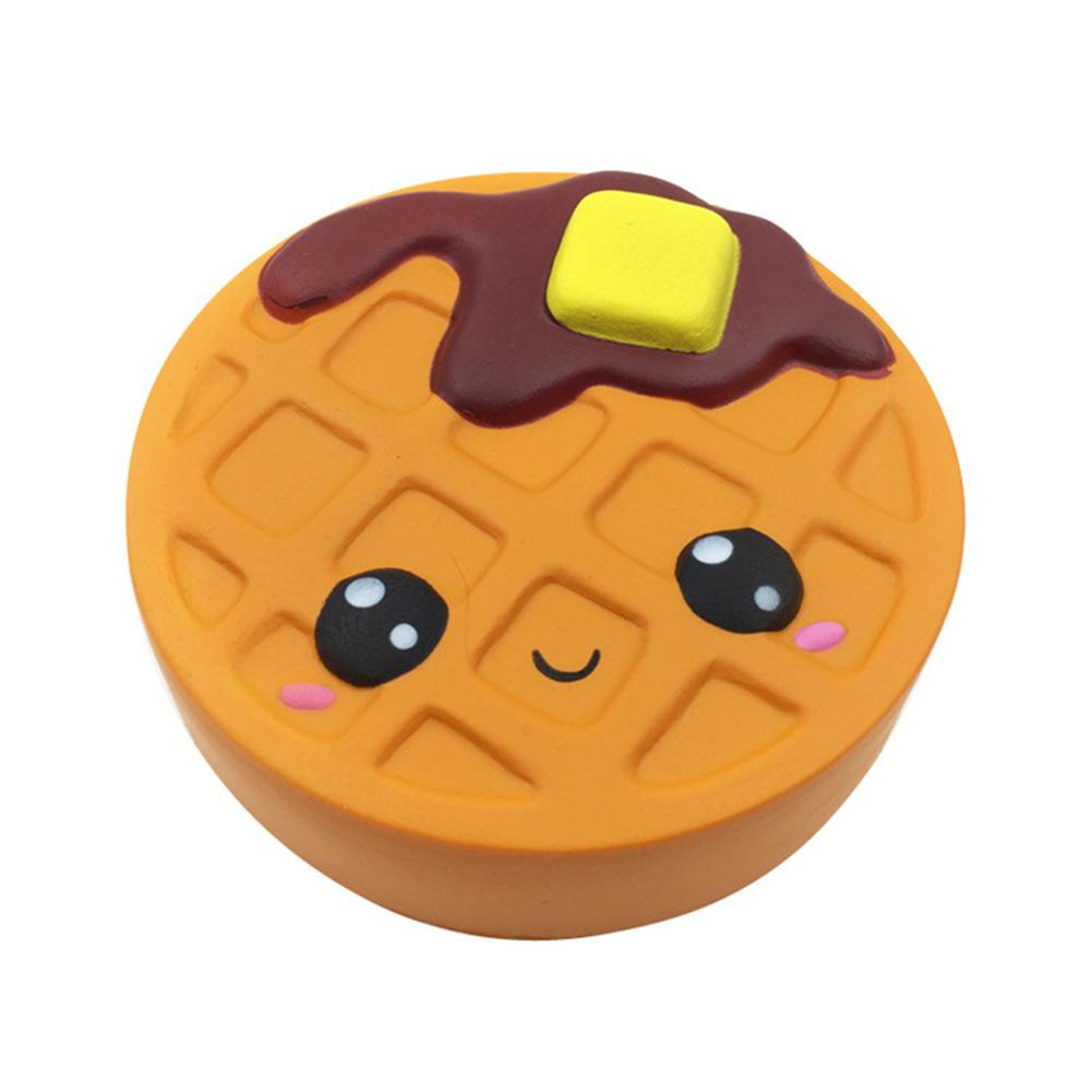Jumbo Cheese Chocolate Biscuits Cute Waffle Cookie Soft Slow Rising Model Stress Reliever Kids Squeeze Toy Funny Kid Xmas Gift