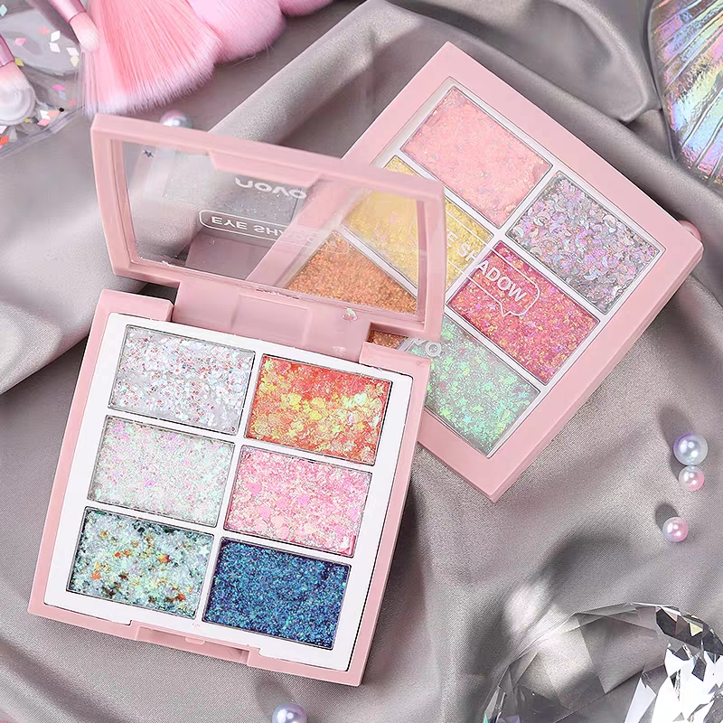 Colorful Shinny Eyeshadow Cream 6 Colors Sequins Shimmer Waterproof Long Lasting Easy To Wear Charming Eyes Makeup For Party