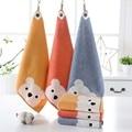 Детские полотенца, детское полотенце для лица, милый рисунок мультяшного медведя, подвесное полотенце для рук, мягкие хлопковые полотенца, ...