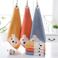 Toalhas de bebê padrão de desenho animado, toalha de mão pendurada de algodão macio para crianças, produtos de banheiro