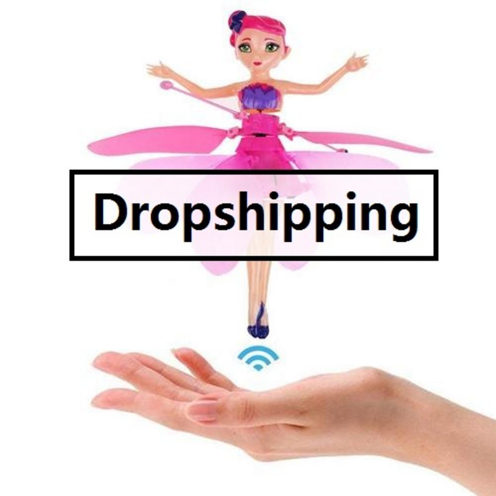 HOT Induction Fairy Magical Princess Dolls Infrared Light Suspension Flying Doll Toys Mini RC Drone Figure Toys Dropshipping