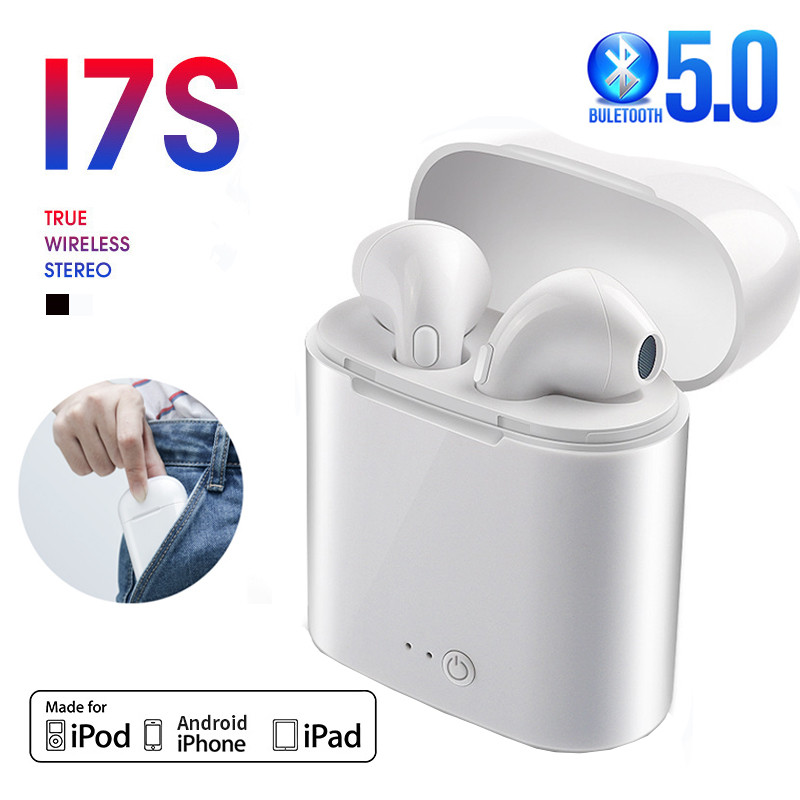 i7s TWS Bluetooth 5.0 Earphone Wireless Headphone Stereo Headset Sports Earbuds with Mic Charge Box For iPhone Xiaomi &All Phone 1