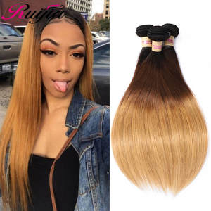 Weave Bundles Hair-Extension Human-Hair Blonde Brazilian-Color Non-Remy Straight 4-27