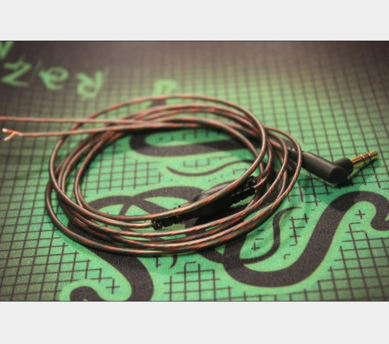 Headphone Accessories DIY Wire Curved Plug L Plug Oxygen-free Copper 1.2m