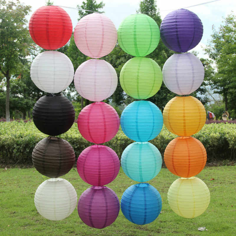 Coffee Chinese Round Paper Lantern Balloon Lamp Ball Light Supplies Halloween Wedding Party Home festival Decoration lanterns