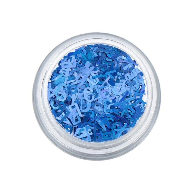 1 boîte ongle paillettes coloré flocons ongles lettre paillettes holographique Design paillettes 3D Nail Art décoration femmes beauté outil