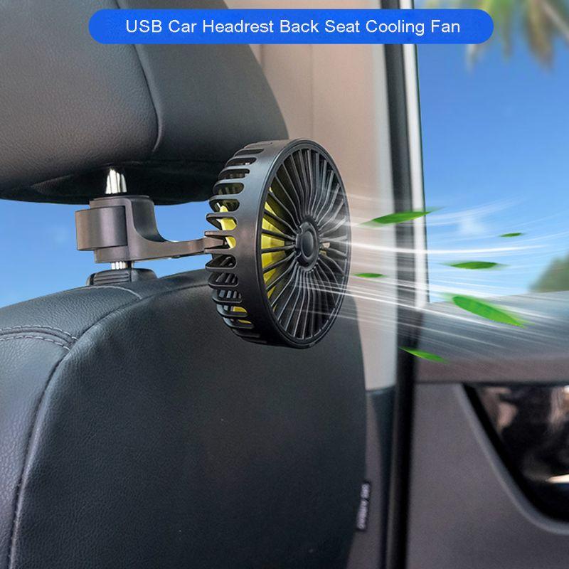 Universal carro gancho banco de trás do carro encosto cabeça 3 velocidade 5 v ventilador usb com interruptor ventilador de refrigeração ar para o caminhão carro suv barco