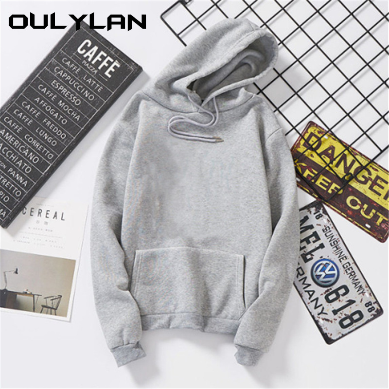 Oulylan Women Hoodies Autumn Sweatshirt Loose Hoodie Sweatshirts Pullover Tops Blouse With Pocket Fashion Hoody