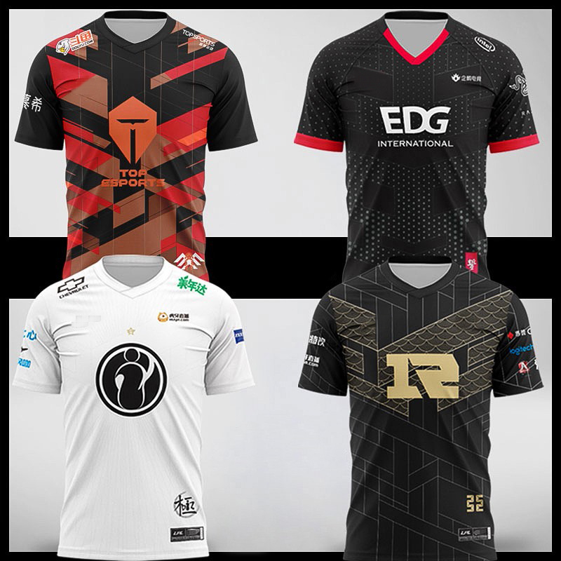 Футболка LOL LPL 2021, Джерси для киберспорта FPX TES JDG SN IG RNG EDG игрока, Джерси, униформа для команды THESHY, футболка с именем пользователя, игровая футб...