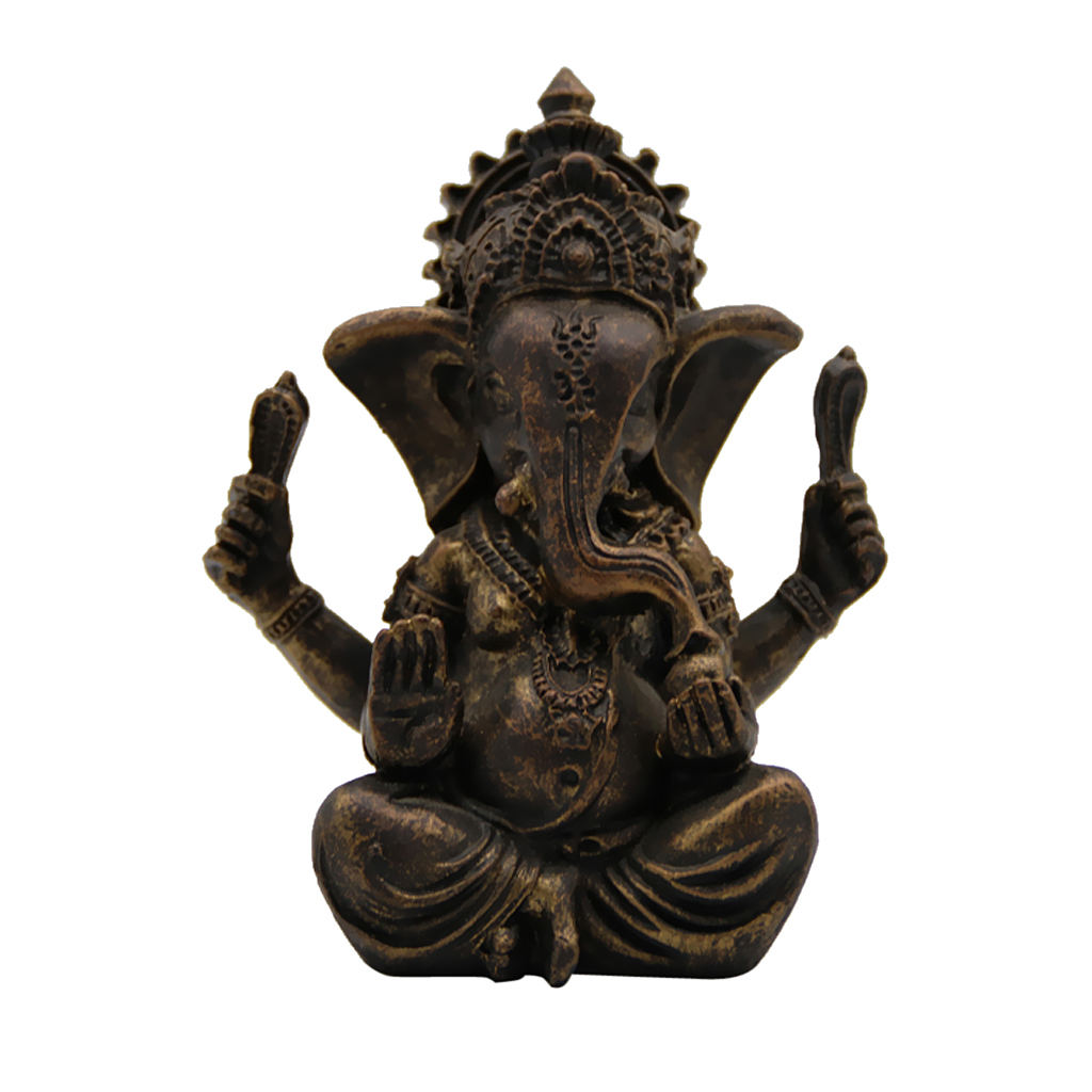 Handmade Resin Ganesha Buddha Elephant Statue Sculpture Figurine Home Decor Ornaments