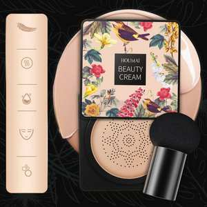 Air Cushion CC Cream Light Moisturizing Foundation Concealer Cushion Waterproof BB Cream Brighten Breathable Makeup With Brush
