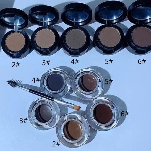 SANIYE 2 in1 Eyebrow Gel Waterproof Powder Eye Brow Gel Cream With Brush Eyebrow Enhancers Cosmetic Eye brow Tint Pomade 3