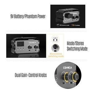 Image 5 - CoMica CVM AX3 XLR Audio Mixer Adapter Preamplifier Dual XLR/6.35mm/3.5mm Mics Audio Mixer for Canon Nikon Sony DSLR Camera