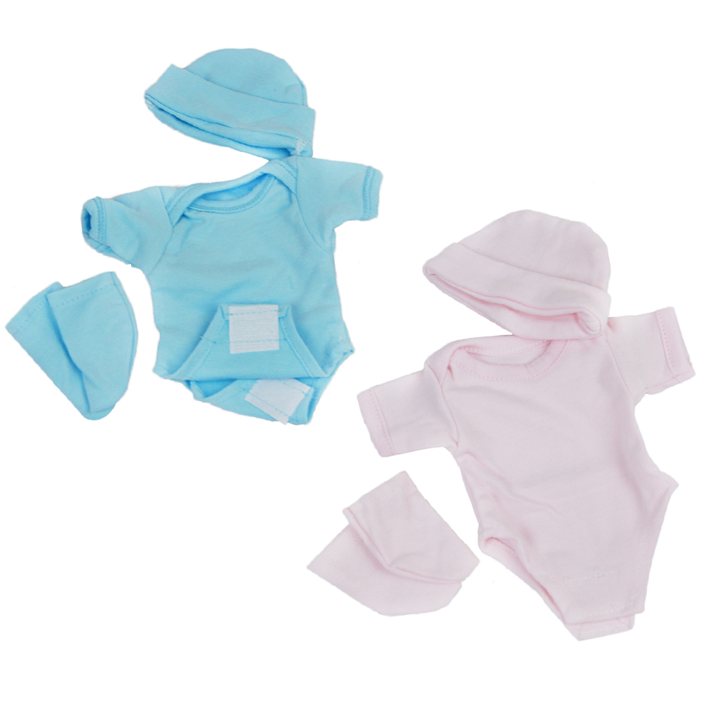 3 in 1  Romper+Socks+Hat Clothes Set for 10-11inch Reborn Baby Doll accessories