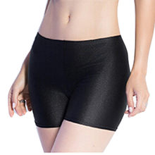 Pantalon court en coton doux sans couture pour femme, collant respirant, taille haute, sous-jupe, été