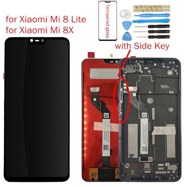 Für Xiao mi mi 8 Lite/mi 8X LCD Display + Rahmen Bildschirm Touch Digitizer Montage LCD Display 10 punkt Touch Reparatur Teile