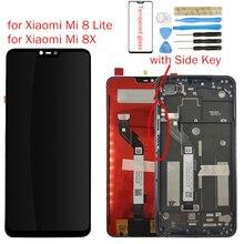 עבור שיאו mi mi 8 Lite/mi 8X LCD תצוגה + מסגרת מסך מגע Digitizer עצרת LCD תצוגת 10 נקודת מגע תיקון חלקים