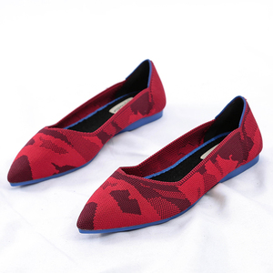 Image 3 - Roman Hot Design Mixed Colors Pointed Toe Slip on Mules Women Single Shoes Microfiber Knitted Flats Femme 34 44 Ballet  Lady