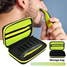 EVA Shaver Razor Holder Storage Bag For Philips OneBlade Men Electric Shaver Carrying Case Shockproof Hard Travel Storage Bag(China)