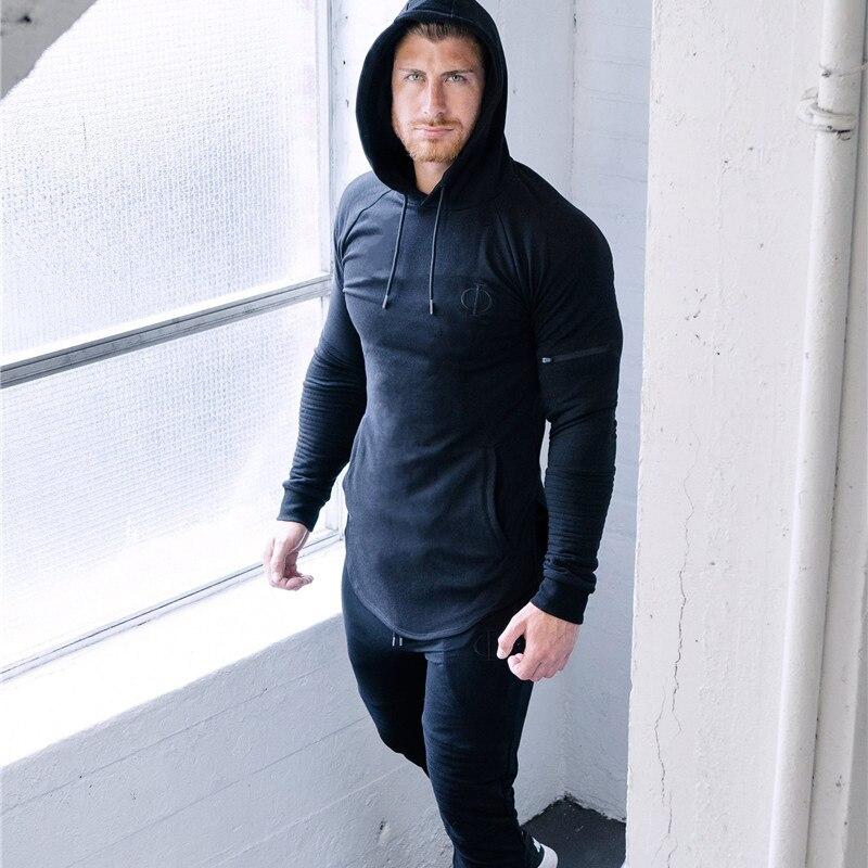 2019 New 2 Pieces Autumn Running Tracksuit Men Sweatshirt Sports Set Gym Clothes Men Sport Suit Training Suit Sport Wear