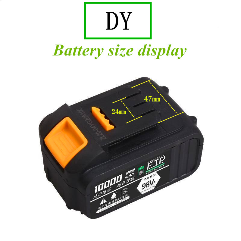 Tools : Electric Wrench 21V Lithium Battery Rechargeable Angle Grinder Power Supply 18650 Battery Pack Large Capacity Lithium Battery
