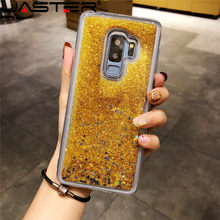 JASTER Mode Dynamische Liquid Quicksand TPU Case Voor Samsung Galaxy S9 Plus S8 S7 Rand Note 9 8 5 j2 Prime J3 J5 J7 2016 Case(China)
