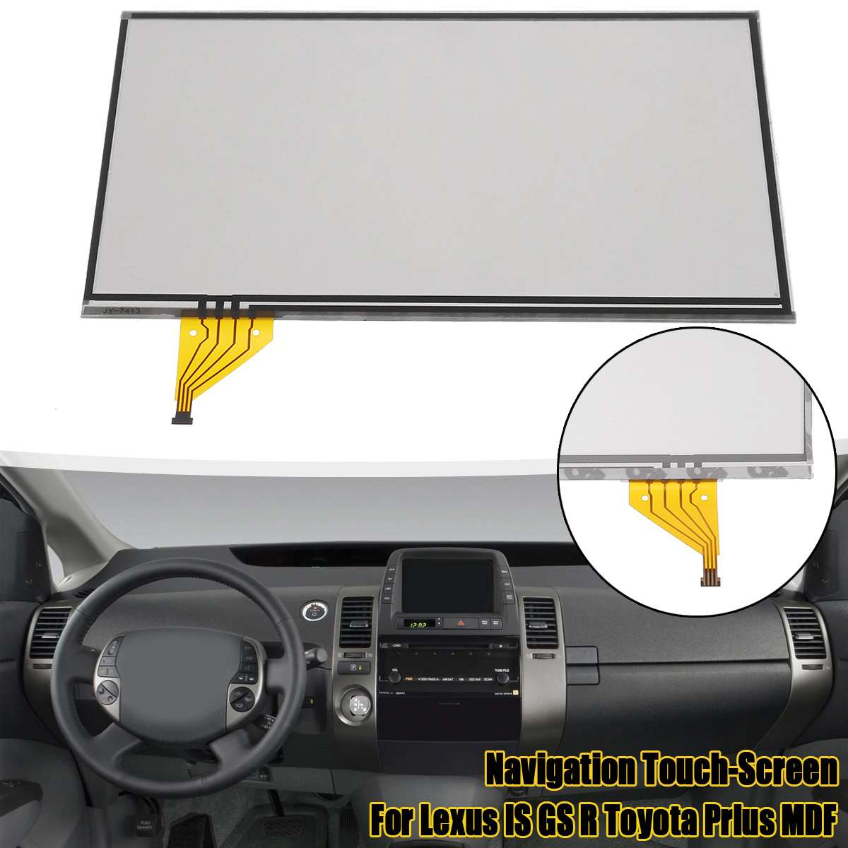 Navigation Touch-Screen Glass Digitizer Lens Touch Screen LTA070B512F LTA070B511F LTA070B512F For Lexus For Toyota Prius MDF