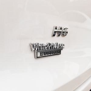 Image 5 - לבן זכות מהדורת סמל תג מדבקה לרכב עבור ג יפ מצפן פטריוט Renegade פורד F150 F250 F350 שברולט RAM GMC האמר