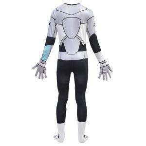Image 2 - Costume de Cosplay 3D pour garçons et filles, Costume de Cosplay Anime pour adolescents Titans Go Cyborg, combinaison pour Halloween