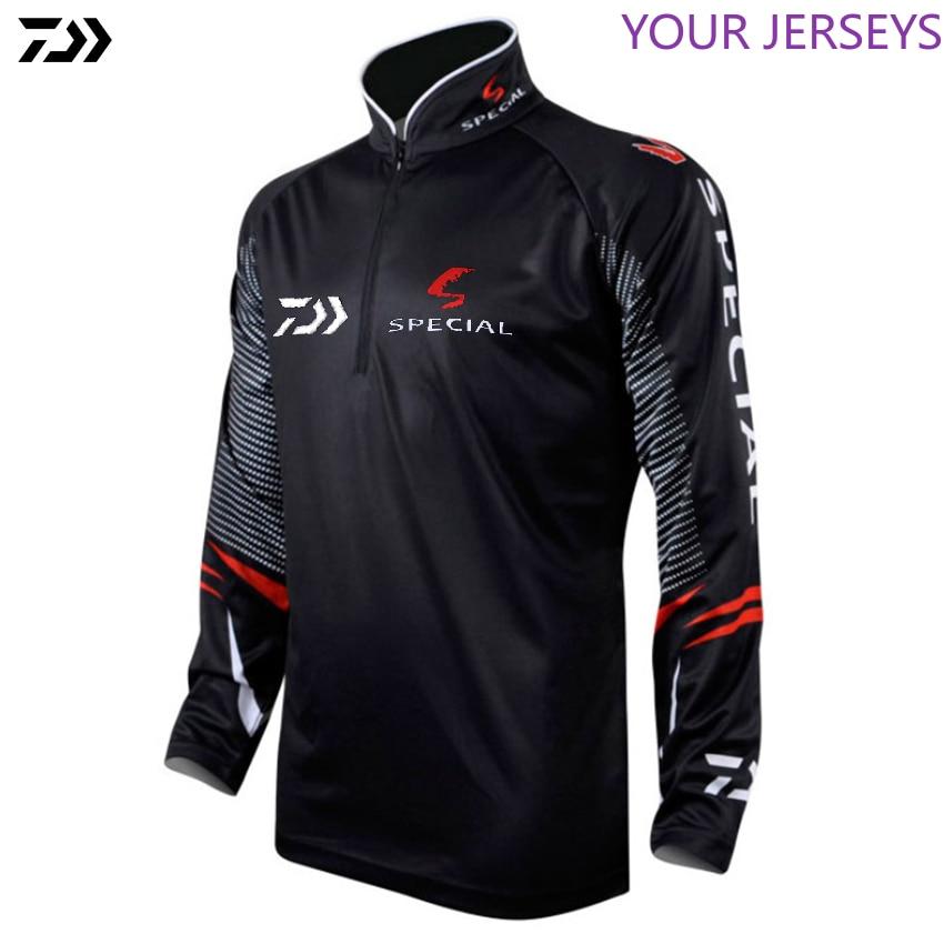 DAIWA DAWA Plus Size 4XL Fishing Clothing For Men Summer Breathable Dry Sun UV Protection Sportswear Man Outdoor Fishing Shirts