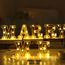 EeeToo Alphabet LED Letter Light Christmas Wedding Marquee Sign Letters Lights Decoration DIY Night Light Home Club LED Lamp