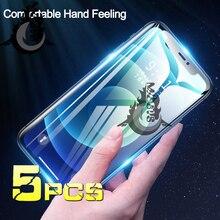 واقي شاشة زجاجي ناعم لهاتف Iphone ، غطاء هيدروجيل لهاتف IPhone 11/12 Pro Max Se 2020 ، Apple Mini 12 ، Xr