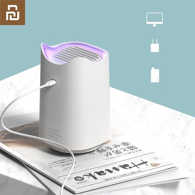 Youpin Sanlife repelente de mosquitos con USB, repelente de mosquitos inteligente para el hogar, para interiores, silencioso, sin radiación, repelente para mosquitos fotocatalizador