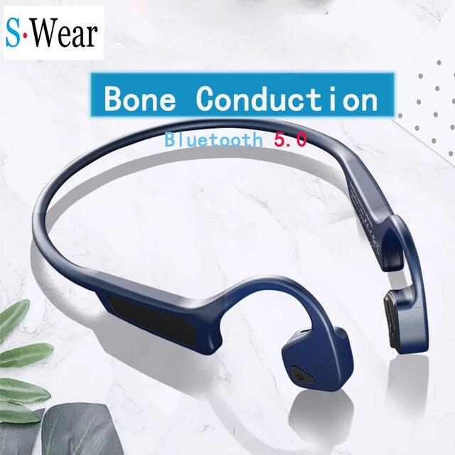 블루투스 5.0 G18 무선 헤드폰 뼈 전도 이어폰 야외 스포츠 헤드셋 마이크 핸즈프리 헤드셋