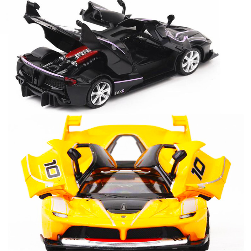 1:32 Scale 15CM Diecast Alloy Ifaxk Fxx Classic Auto Car Model Auto Traffic Tools Pull Back Vehicles Toys F Kids Children Gifts image