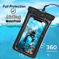 Bolsa de aire impermeable para teléfono móvil, funda para iPhone 11 XS Samsung A51 S10 S20 Huawei P30 P20 P40 Redmi Note 9, cubierta a prueba de agua