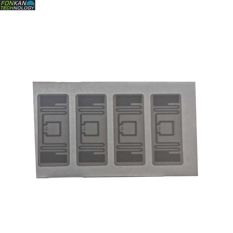 FONKAN UHF RFID MR6 Chip 43x18MM EPC C1G2 RFID White Lable Sticker Tag Can Be Printed 840-960Mhz