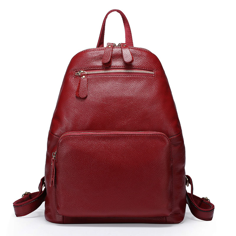 ZENCY 100% Real Soft Cowhide Genuine Cow Leather Women's Backpack First Layer Cow Leather Female Ladies' Backpacks Travel Bags