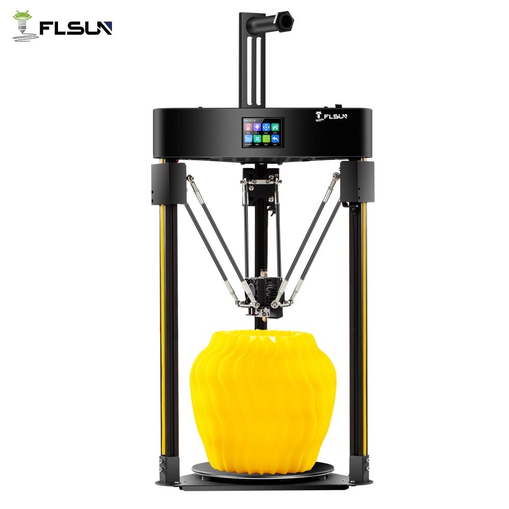 2019 Flsun Q5 3D Printer Tmc 2208 Stille Driver Auto Leveling 3D Printer Hervatten Pre-Assemblage 3D-Printer Tft 32bits Board Kossel