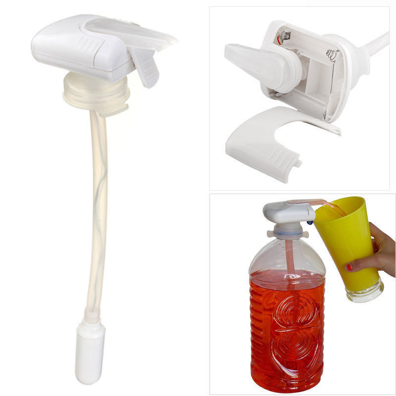 1PC Hand Press Water Bottle tap Creative Beverage Electric Automatic Drinking Straw Fruit Juice Coke Milk Drinks Suck Tools Hand Press Water Pumps     - title=