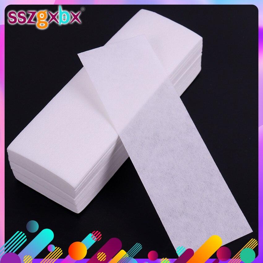 Papel depilador não-tecido, removedor de pelos do corpo, rolo de papel de cera, depilador de alta qualidade com 100 peças